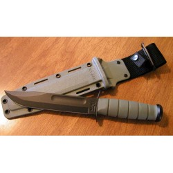 Couteau Ka-Bar Fighting Knife Green Acier Carbone 1095 Manche Kraton Made In USA KA5011 - Livraison Gratuite