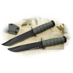 Couteau de Combat Ka-Bar Fighting Knife Acier Carbone 1095 Serrated Manche Kraton Made In USA KA5012 - Livraison Gratuite