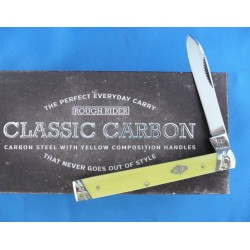 Couteau Rough Rider Classic Carbon Series Doctors Knife Lame Acier T10 Manche Yellow RR1732 - Livraison Gratuite