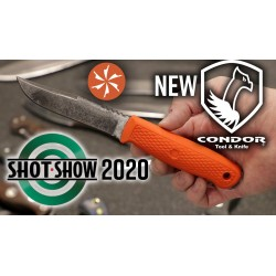 Couteau Condor Bushglider Knife Orange Acier Carbone 1095 Manche & Etui Abs Made El Salvador CTK395142HC - Livraison Gratuite