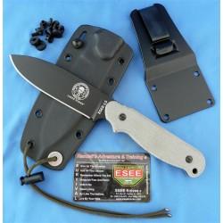 Couteau de Survie ESEE Laser Strike Acier 1095 Manche Green Micarta Etui Kydex USA ESLSP - Livraison Gratuite