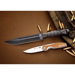 Couteau de Combat Smith&Wesson M&P Specials Ops Lame Acier 8Cr13MoV Manche Abs Etui FRN SW1122584 - Livraison Gratuite