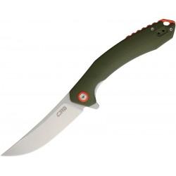 J1906GNC Couteau CJRB Gobi Green Lame Acier D2 Stonewash Manche G10 - Livraison Gratuite