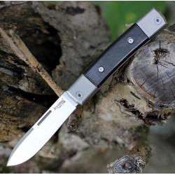Couteau LionSteel BestMan BM2 Lame Acier M390 Manche Ebène/Titane Made Italy LSTBM2EB - Livraison Gratuite