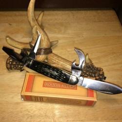 Couteau de Scout Rough Rider Kamp King Ouvres Boites, Bouteilles, Tournevis RR1987 - Livraison Gratuite