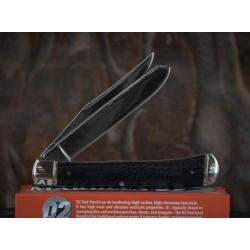 Couteau Canif Marbles Trapper 2 Lames Acier D2 Manche Micarta Black MR434 - Livraison Gratuite