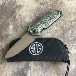 SIG36218 Couteau SIG SAUER EX-02 Manche Green G10 Lame Acier 154CM Linerlock Clip - Livraison Gratuite