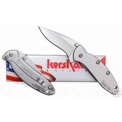 KS1600 Couteau KERSHAW CHIVE KEN ONION A/O Lame Acier 420 Manche Acier Made USA - LIVRAISON GRATUITE
