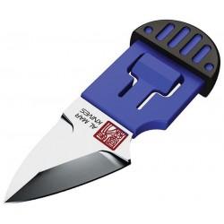 Lot de 2 Couteau de Cou Al Mar Stinger Keyring Blue Lame Acier D2 Manche & Etui PP + TPR AMK1001BKBLBL - Livraison Gratuite