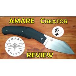Couteau Amare Creator Slip Joint Black Lame Acier VG10 Manche G10 AMR202001 - Livraison Gratuite
