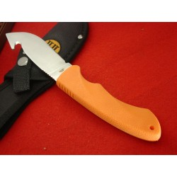 RR1446 Lot de Couteaux 3 Skinner Rough Rider Guthook Lame Acier inox Manche Orange Abs Etui Nylon - Livraison Gratuite