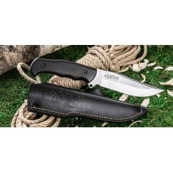 Couteau Kizlyar Caspian Bowie Acier D2 Manche Charme Etui Cuir Made In Russia KK0043 - Livraison Gratuite