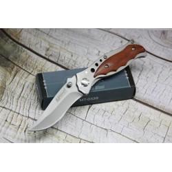 Couteau MTECH Linerlock - mT033S Manche Bois Cran d arrêt Livraison Gratuite