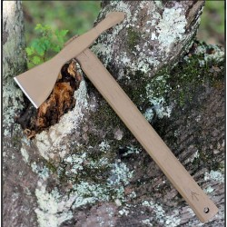 Hachette American Tomahawk Model 1 Coyote Lame Acier Carbone 1060 Manche Bois Etui Kydex USA ATC810713 - Livraison Gratuite