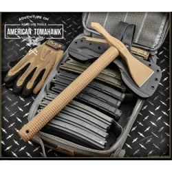 Hachette American Tomahawk Model 1 Tomahawk Coyote Acier Carbone 1060 Etui Kydex Made USA ATC810706 - Livraison Gratuite