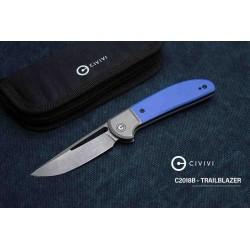 Couteau CIVIVI Trailblazer Blue Lame Acier 14C28N Manche G-10 Slip Joint CIVC2018B - Livraison Gratuite