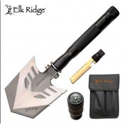 Pelle Elk Ridge Outdoor Survival Multi Function Shovel Acier 3Cr13 Manche Alu Etui Nylon ER962 - Livraison Gratuite