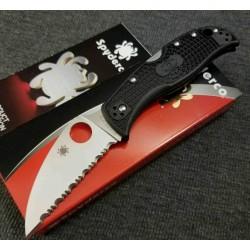 Couteau Spyderco RockJumper Lame Acier VG10 Serr Manche FRN Lockback Japan SC254SBK - Livraison Gratuite