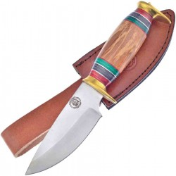 Couteau Frost Cutlery Chipaway Olive Wood Lame Acier Inox Manche Olivier Etui Cuir FCW1120OW - Livraison Gratuite
