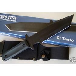 Couteau Tactical Bushcraft Cold Steel GI Tanto Lame Acier Carbone 1055 Manche Abs CS80PGT - Livraison Gratuite