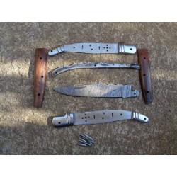 Lot de 5 Couteaux Damas En Kit Lame 128 couches Façon Laguiole Abeille Fab Artisanale - Livraison Gratuite