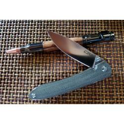 J1917GYC Couteau CJRB Ria Blue-Gray Lame Acier 12C27 Manche G10 IKBS Clip - Livraison Gratuite
