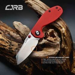J1918REF Couteau CJRB Maileah Lame Acier AR-RPM9 Manche Red G10 IKBS Linerlock Clip - Livraison Gratuite