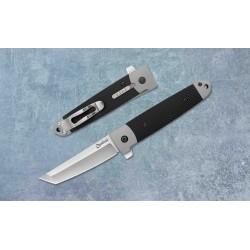 Couteau Cold Steel Oyabun Leaf-Spring Lock Lame Tanto 4034 Manche Gray Griv-Ex Clip CS26T - Livraison Gratuite