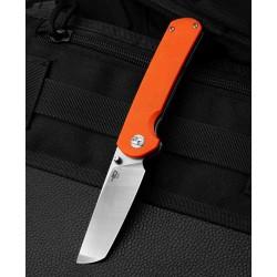 Couteau Bestech Sledgehammer Orange Lame Acier D2 Manche G10 IKBS Linerlock Clip BTKG31A1 - Livraison Gratuite