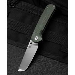Couteau Bestech Sledgehammer Green Lame Acier D2 Manche Micarta IKBS Linerlock Clip BTKG31B1 - Livraison Gratuite
