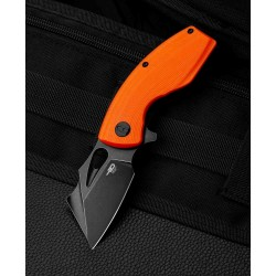 Couteau Bestech Lizard Orange Lame Acier D2 Black Manche G10 IKBS Linerlock Clip BTKG39D - Livraison Gratuite