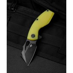 Couteau Bestech Lizard Lime Green Lame Acier D2 Black Manche G10 IKBS Linerlock Clip BTKG39F - Livraison Gratuite