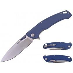 STTS011BL Couteau S-TEC Blue Lame Acier 8Cr14MoV Manche G10 IKBS Linerlock Clip - Livraison Gratuite