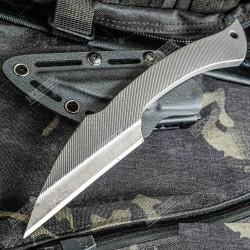 Couteau Tactical S-Tec T12 Lame Acier T12 65HRC Etui Kydex STTS110 - Livraison Gratuite