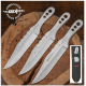 Couteaux de Lancer Hibben Triple Set Throwing Clip Point Acier 3Cr13 Etui Nylon GH5106 - Livraison Gratuite