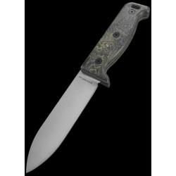 Couteau Buschraft Ontario Blackbird ML5 Lame Acier 420HC Manche Micarta Etui Cuir Made In USA ON7502 - Livraison Gratuite