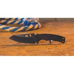 Couteau de Cou ABKT Tac Recon Ops Neck Lame Acier 8Cr13MoV Etui GRN AB017 - Livraison Gratuite