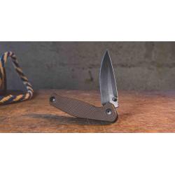 Couteau Tactical ABKT Tac Catalyst Tan Lame Acier D2 Manche G-10 IKBS Linerlock Clip AB1026T - Livraison Gratuite