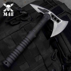 Hache Tomahawk M48 Camp Hawk Lame Acier Inox Manche FRN Etui Nylon United Cutlery UC3481 - Livraison Gratuite