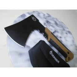 Hache Gerber Pack Hatchet Black Lame Acier Inox Manche FRN Etui Nylon G3484 - Livraison Gratuite