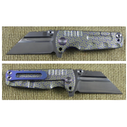 ATZ1820GBU02 Artisan Proponent Framelock Blue/Gold Titane S35VN Blade IKBS Nylon Case - Livraison Gratuite