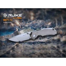 Couteau Ruike M671-TZ Manche Titane Lame Acier 154CM IKBS Framelock Clip RKEM671TZ - Livraison Gratuite