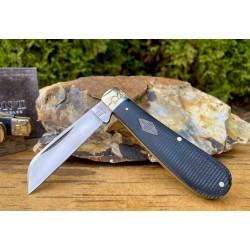 Couteau Rough Ryder Hawkbill Black Micarta Lame Acier Carbone T10 Manche Micarta RR2213 - Livraison Gratuite