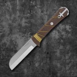 Couteau Condor Ocean Raider Lame Acier 440C Manche Noyer Etui Cuir El Salvador CTK1173754C - Livraison Gratuite