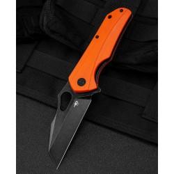 Couteau Bestech Operator Orange Lame D2 Black Manche G10 Linerlock Clip BTKG36E - Livraison Gratuite