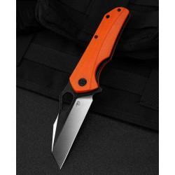 Couteau Bestech Operator Orange Lame D2 Black/Satin Manche G10 Linerlock Clip BTKG36D - Livraison Gratuite