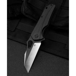 Couteau Bestech Operator Black Lame D2 Black/Satin Manche G10 Linerlock Clip BTKG36A - Livraison Gratuite