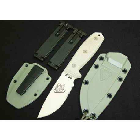 RAT Cutlery RC-3 Desert Tan Serrated Knife COUTEAU RC3SDT