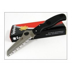 SPYDERCO ATLANTIC SALT Black H1 Serrated - SC89SBK - Couteau Spyderco