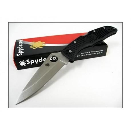 Couteau SPYDERCO Black FRN ENDURA 4 VG-10 Plain SC10PBK
